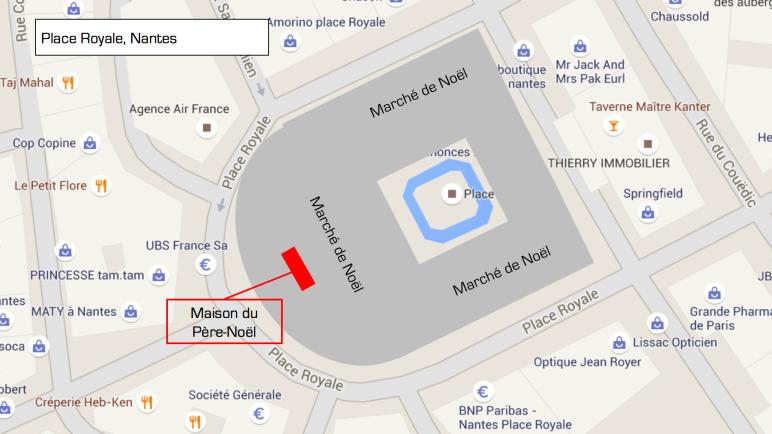 Maison du Père Noël - Place Royale Nantes