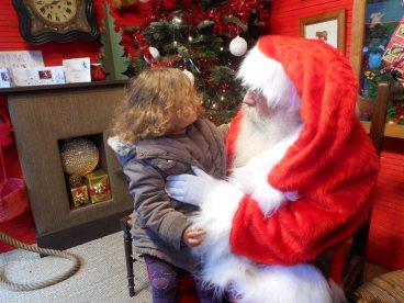 En discussion avec le Père-Noël